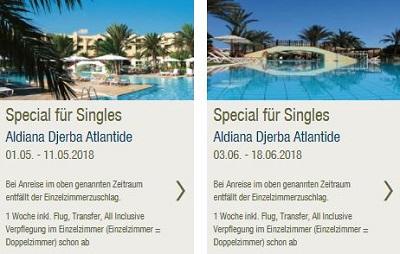 Aldiana-Singlereisen: Single-Special nach Djerba Atlantide