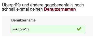 Casual Date 18 Nutzername automatisch