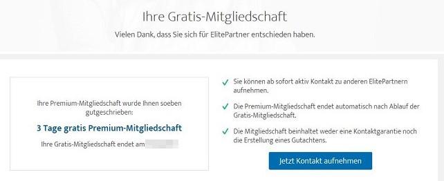 ElitePartner gratis Premium-Mitgliedschaft