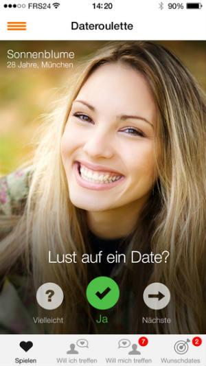 Das Dateroulette ist natürlich ideal über die Friendscout24 App