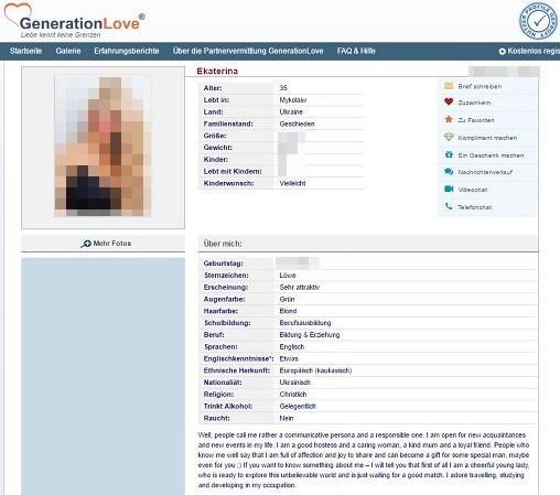 Frauen aus Osteuropa bei der Partnervermittlung GenerationLove