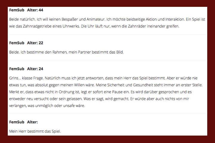 Die Rubrik Gentledom/Statements