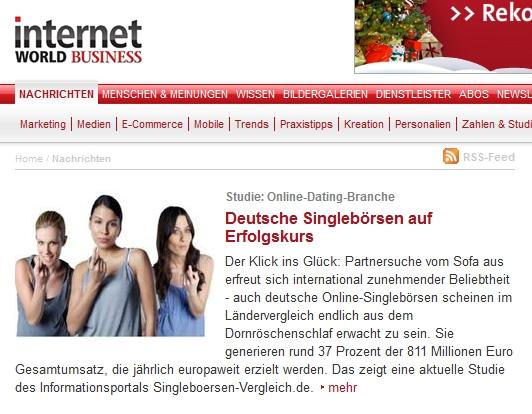 deutsche singleboersen auf erfolgskurs