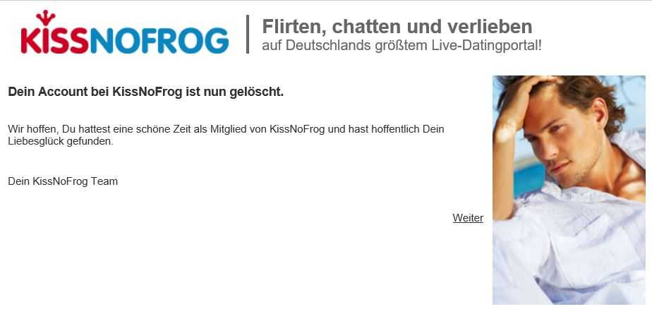 kissnofrog-basis-account-loeschen