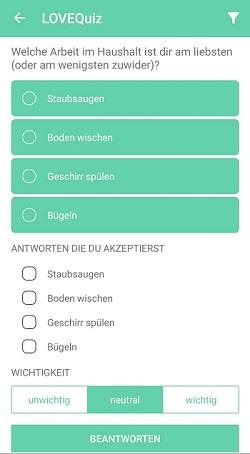 lovequiz app icony fragen