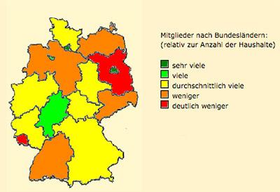 meetic.de Login Mitgliederverteilung im deutschsprachigen Raum