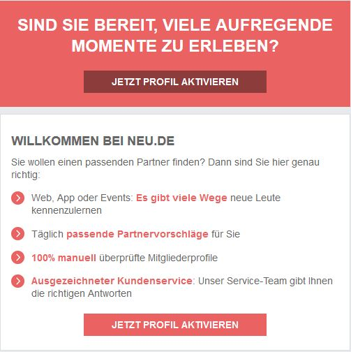 neu.de 3 Tage gratis Gutschein