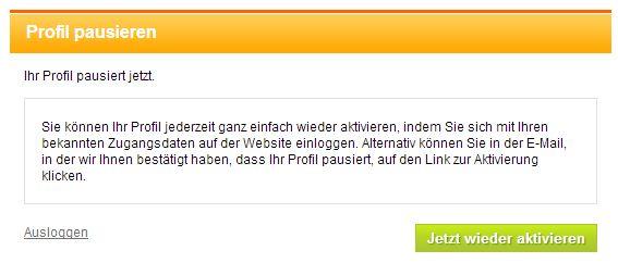 neu.de Profil löschen
