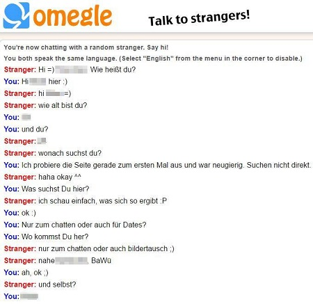 Chat im Omegle randomchat