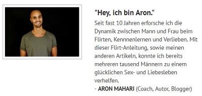 Pick-Up-Artist: Aron mahari im Interview