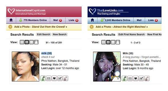Frauensuche auf den CupidMedia-Portalen ist nicht identisch.