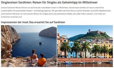 singlereisen nach sardinien