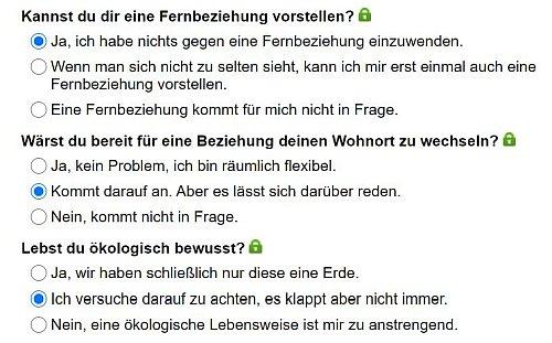 Partnerfragen bei Spätzlesuche.de