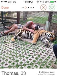 Tinder Tiger Selfies