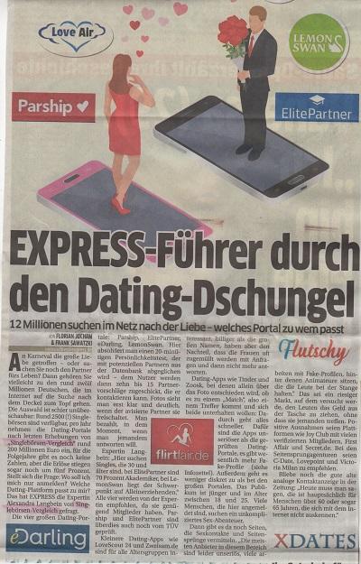 Online-Dating: Express berichtet mit Singleboersen-Vergleich.de über die besten Online-Dating-Boersen