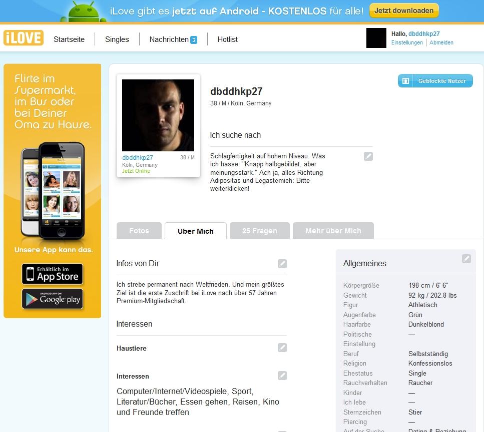 Das persönliche iLove-Profil