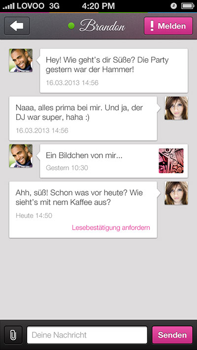 LOVOO App Chat