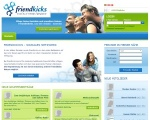 so sah Friendkicks.de aus