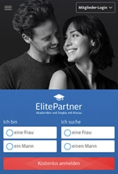 Screenshot ElitePartner App