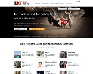 Screenshot 123tanzpartner.de