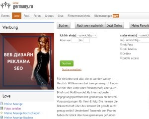 Screenshot love.germany.ru