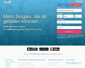 Screenshot Zoosk.com