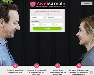Screenshot Zweisam.de