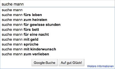 Google Suche Mann